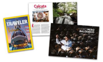 Su National Geographic Traveler (Autunno 2019): L'Oro Nero di Modena e il borgo di Calcata